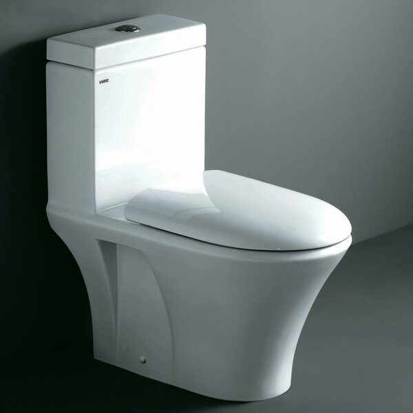 Milano Contemporary Dual Flush Elongated One-Piece Toilet by Ariel Bath