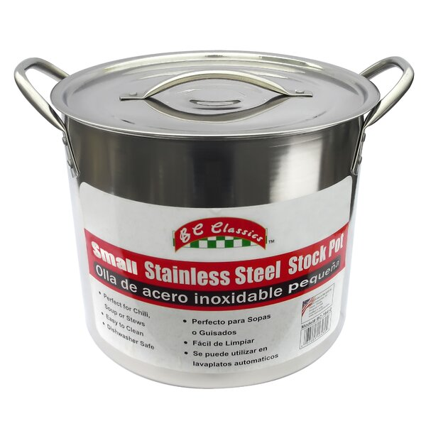 8-qt Stainless Steel Stock Pot with Lid by MBR Industries
