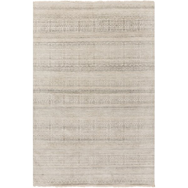 Jacobus Hand-Knotted Gray/Brown Area Rug by Gracie Oaks