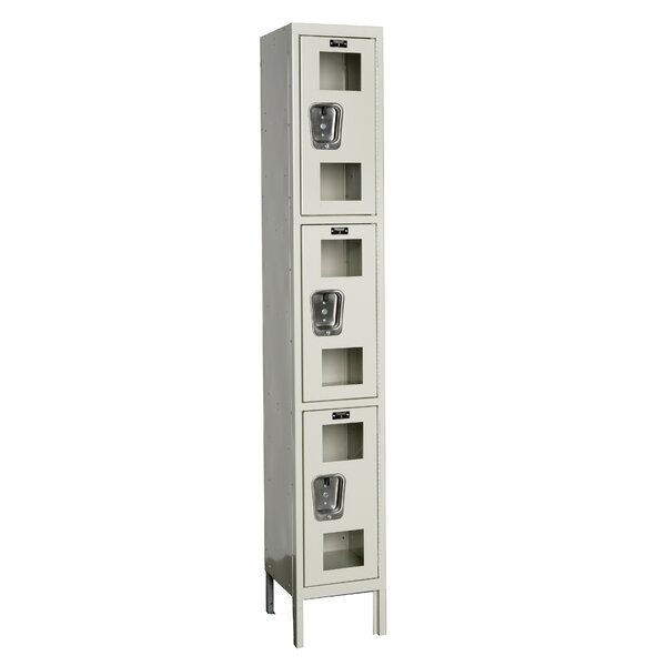 Safety-View 3 Tier 1 Wide Storage Locker by HallowellSafety-View 3 Tier 1 Wide Storage Locker by Hallowell