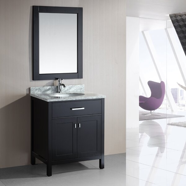 Middletown 30 Single Bathroom Vanity Set with Mirror by Andover Mills