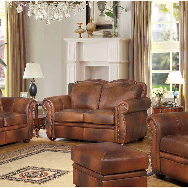 Amazing Selection Danieli Leather Loveseat Hot Deals 55% Off