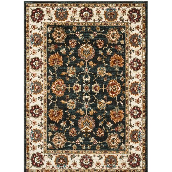 Lowe Dark Grey/Ivory  Area Rug by Charlton Home