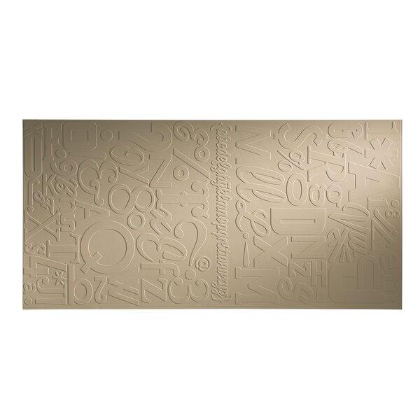 Alphabet 48 x 96 PVC Backsplash Panel in Bisque by Fasade