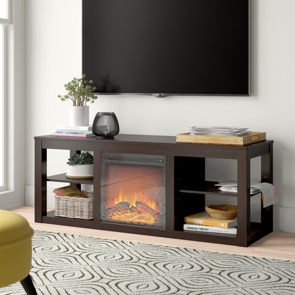 Reviews Rickard TV Stand for TVs up to 65 with Fireplace Included by Zipcode Design