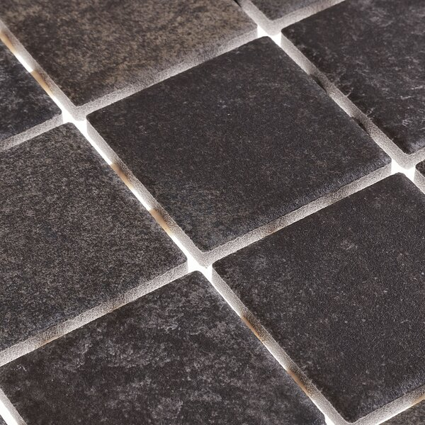 Slate Attaché 12 x 24 Porcelain Mosaic Tile in Multi Green by Daltile