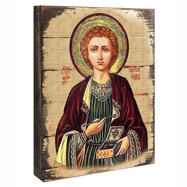 Inspirational Icon Saint Panteleimon Painting by G Debrekht
