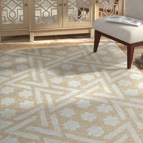 Amol Hand-Tufted Beige Area Rug by Bloomsbury Market