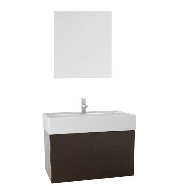 Smile 31 Single Bathroom Vanity Set with Mirror by Nameeks Vanities