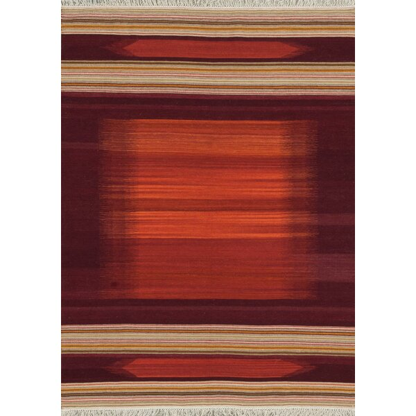 Zapata Handmade Red Area Rug by Bloomsbury Market