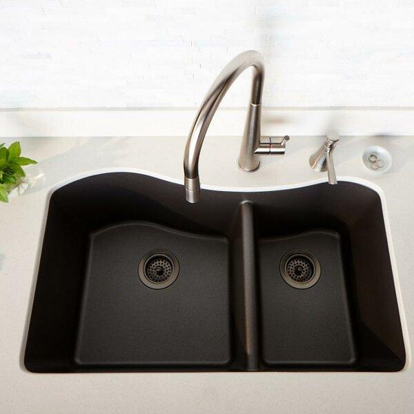 Quartz Luxe 33 L x 20 W Double Basin Undermount Kitchen Sink by Elkay
