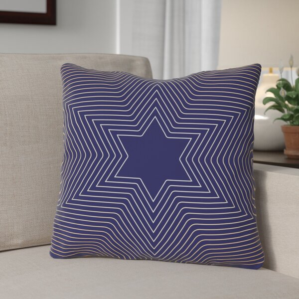 Square Star of David Throw Pillow by The Holiday Aisle
