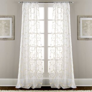 hidden ritva polyester curtains curtain embroidered dolly rivta white embroidery sheer tabs panel with