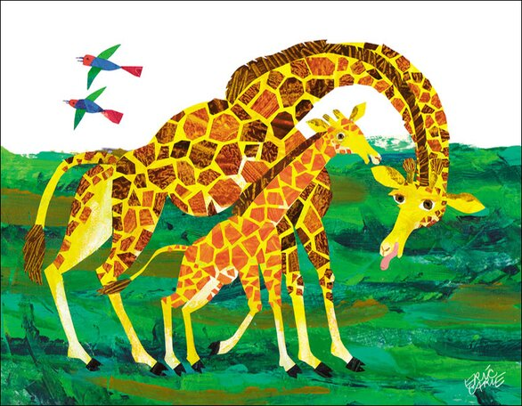 Giraffe Mother by Eric Carle Canvas Art by Oopsy Daisy