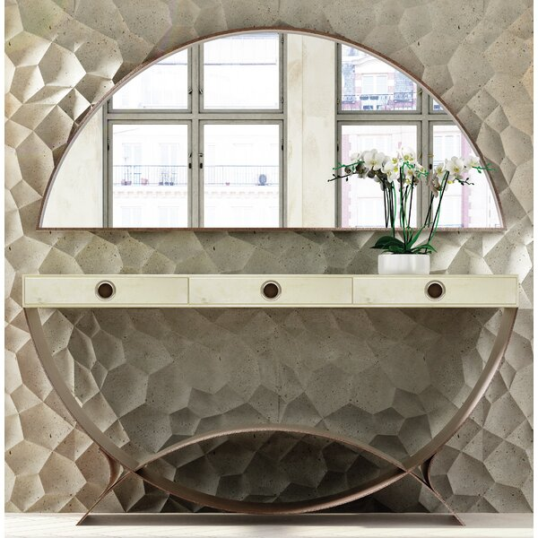 Review Koski Console Table And Mirror Set