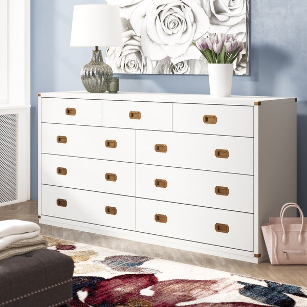 SkeltinCleveland 9 Drawer Double Dresser By Everly Quinn