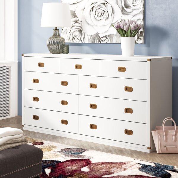 SkeltinCleveland 9 Drawer Double Dresser By Everly Quinn