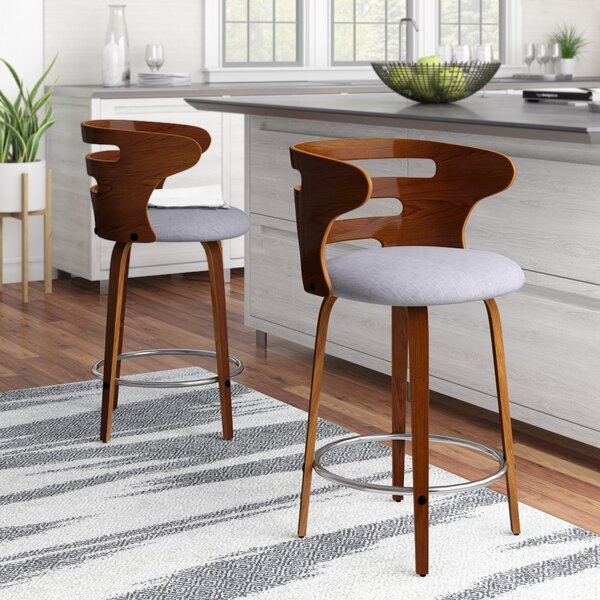 Baehr Swivel Bar & Counter Stool (Set of 2) by Wade Logan
