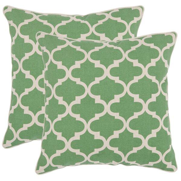 Suzy Cotton Throw Pillow (Set of 2) by Safavieh