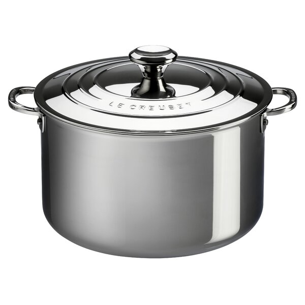 Stainless Steel Round Deep Casserole by Le Creuset