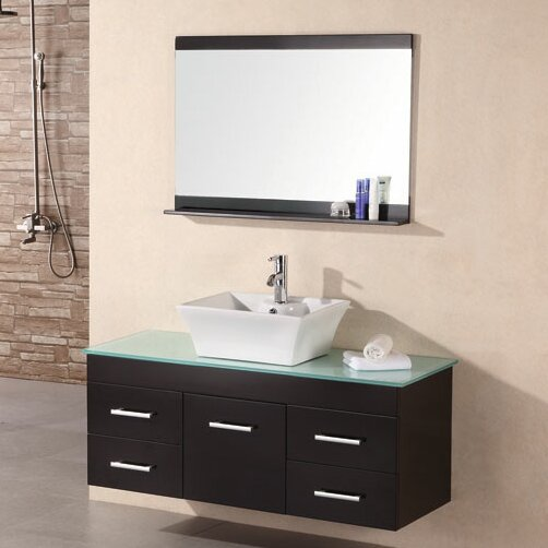 Newcastle 48 Single Bathroom Vanity Set with Mirror by Brayden Studio