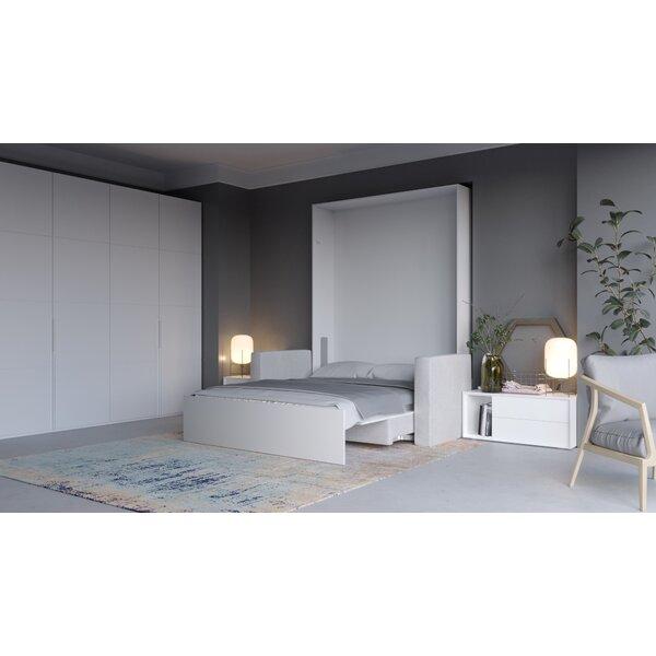 Daijon Upholstered Murphy Bed with Mattress by Latitude Run