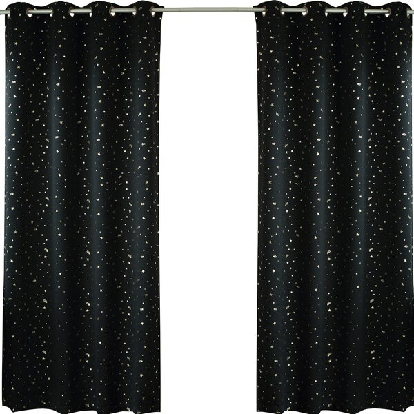 Geometric Blackout Thermal Grommet Curtain Panels (Set of 2) by Best Home Fashion, Inc.