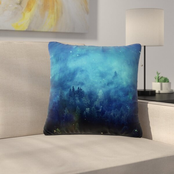 888 Design Night Forest Outdoor Throw Pillow by East Urban Home