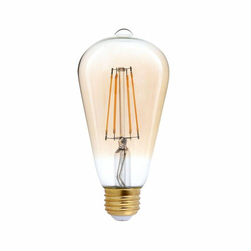 40W Equivalent Amber E26 LED Standard Edison Light Bulb by TriGlow