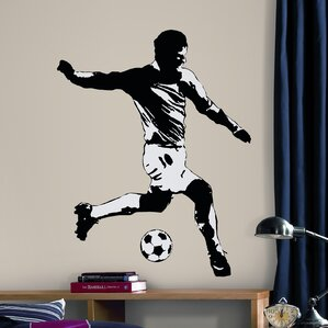 Perfect Studio Designs 6 Piece Soccer Player Wall Decal Amazing Design