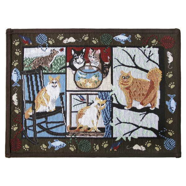 PB Paws & Co. Woodland Cat Days Tapestry Area Rug by Park B Smith Ltd