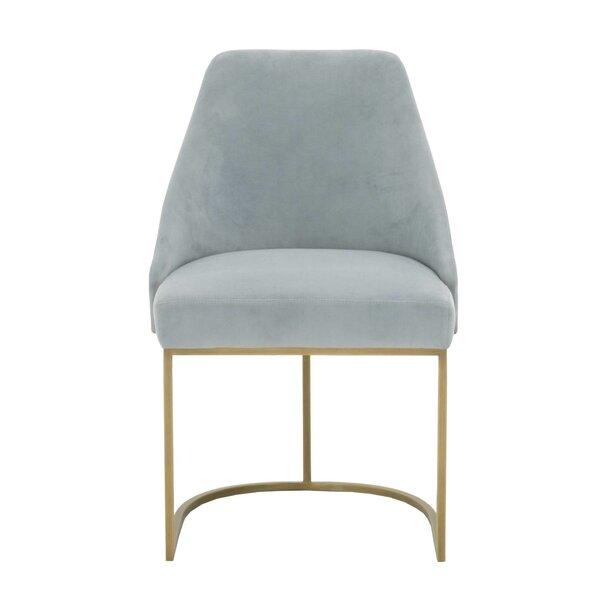 Lavaca Velvet Upholstered Dining Chair (Set Of 2) By Everly Quinn Savings