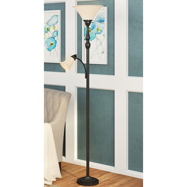 Girardeau 71.25 Torchiere Floor Lamp by Three Posts