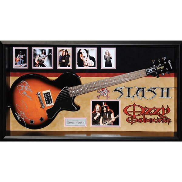 Custom Framed Guitar Autographed by Slash and Ozzy Osbourne by Brayden Studio