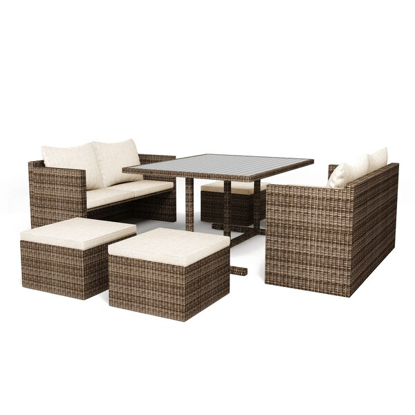 Burley 7 Piece Dining Set with Cushions