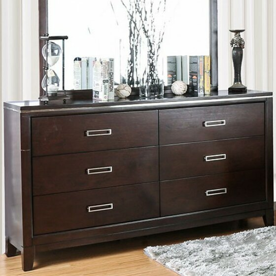 Brinegar 6 Drawer Double Dresser with Mirror by Orren Ellis