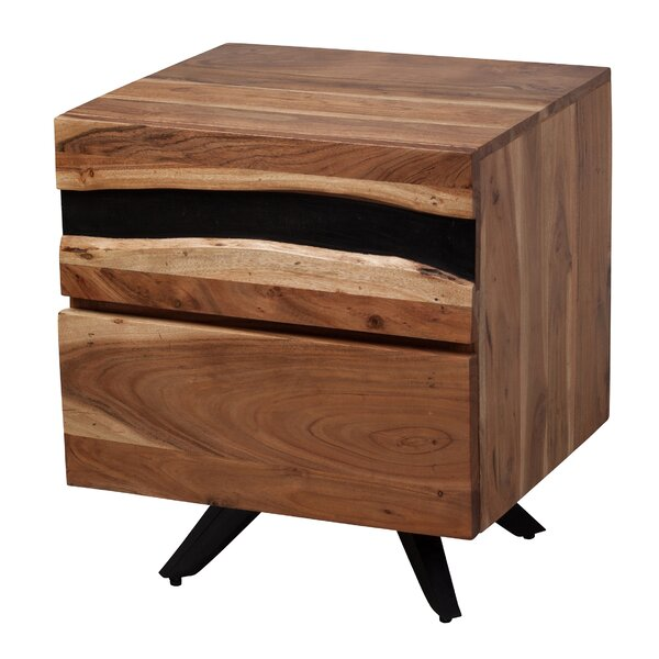 Avebury Reclaimed 2 Drawer Nightstand by Foundry Select