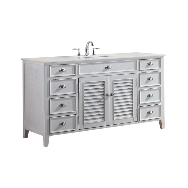 Gerrell 60 Single Bathroom Vanity Set by Highland Dunes