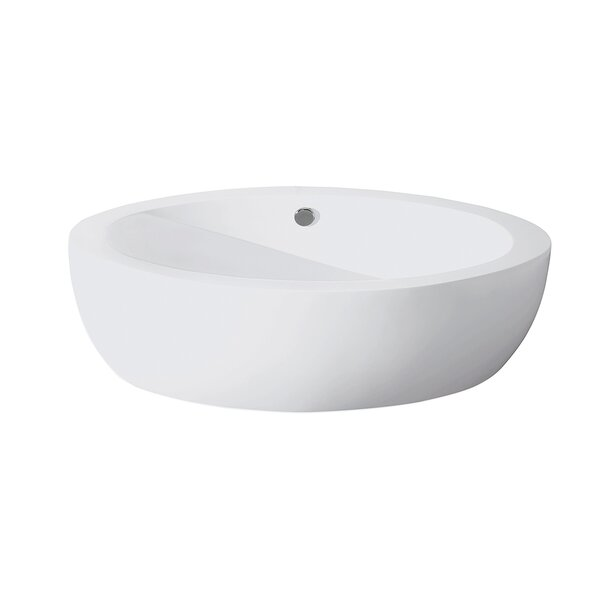 Aqua Eden Joelle Acrylic 72.81 x 35.81 Freestanding Soaking Bathtub by Kingston Brass