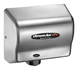 Adjustable High Speed 100 - 240 Volt Hand Dryer in Satin Chrome by American Dryer