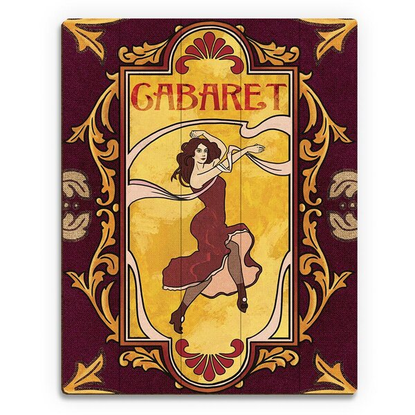 Cabaret Graphic Art on Plaque by Click Wall Art