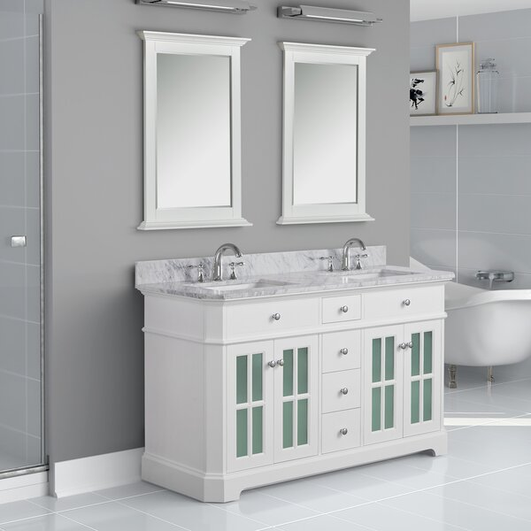Conner 60 Double Bathroom Vanity Set by Rosecliff Heights