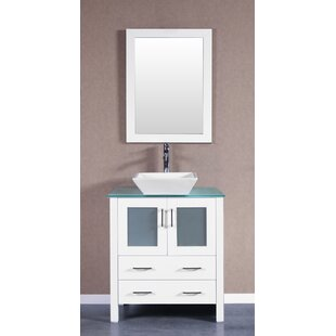 Read Reviews Dungannon 30 Single Bathroom Vanity Set with Mirror By Highland Dunes
