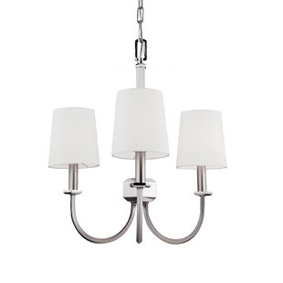Best Price Holdren 3-Light Shaded Chandelier By Darby Home Co