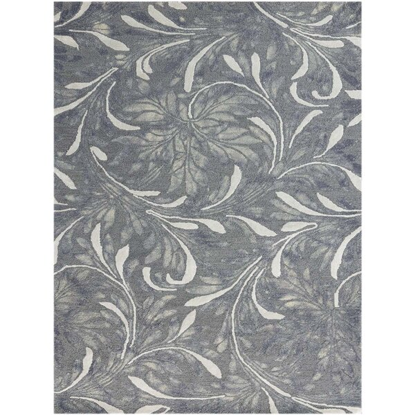 Pavilion Modern Hand-Tufted Gray Area Rug by Charlton Home