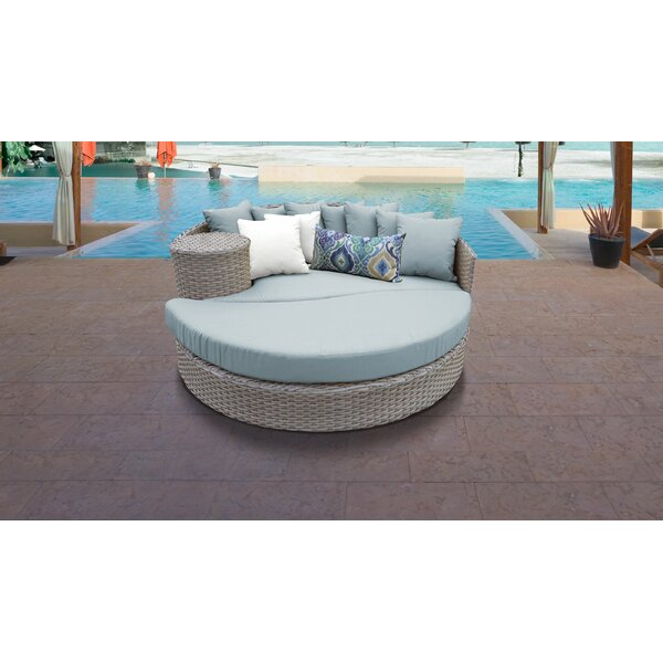 Rochford Circular Patio Daybed with Cushions by Sol 72 Outdoor Sol 72 Outdoor