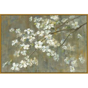In Bloom & Landscape 'Dogwood in Spring' Framed Painting Print by Ashton Wall Décor LLC