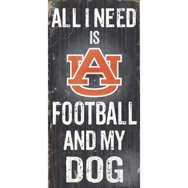 NCAA Football and My Dog Textual Art Plaque by Fan