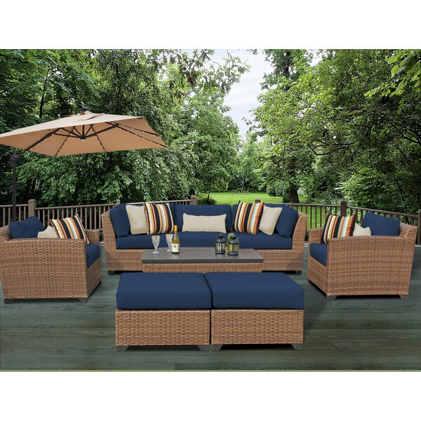 East Village 8 Piece Rattan Sofa Set with Cushions