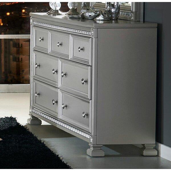 Anissa Wooden 7 Drawer Double Dresser by Rosdorf Park